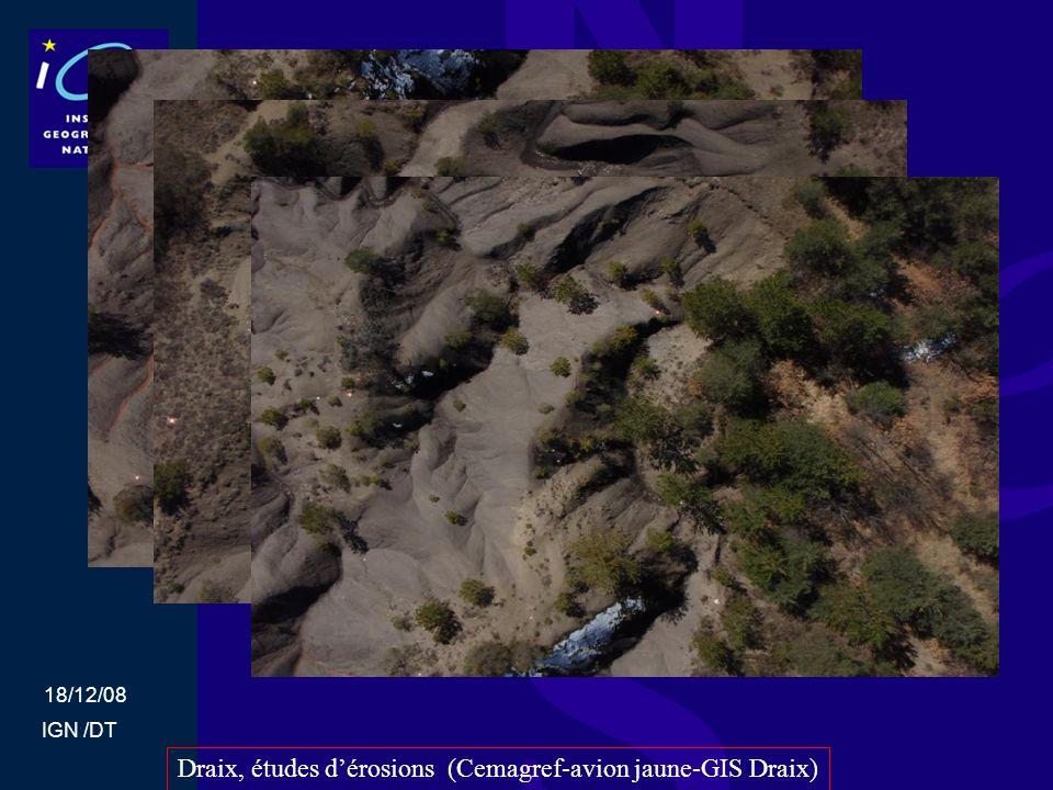Draix, études d'érosions (Cemagref-avion jaune-GIS Draix)