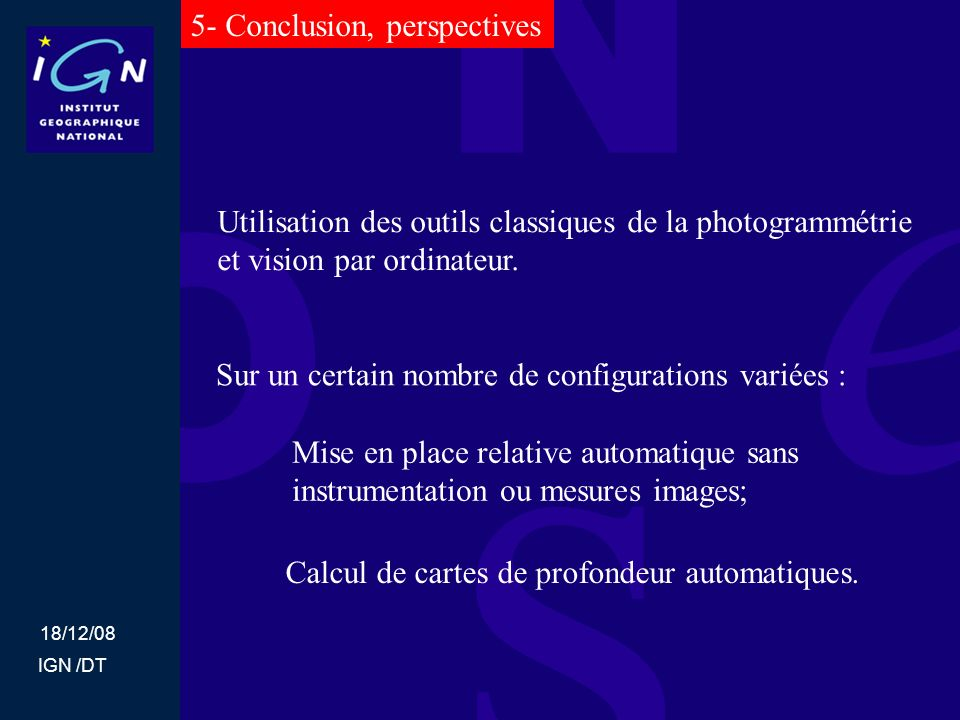 5- Conclusion, perspectives