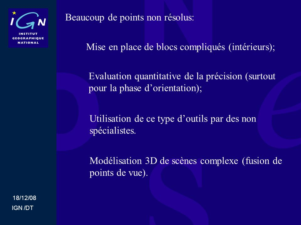 Beaucoup de points non résolus: