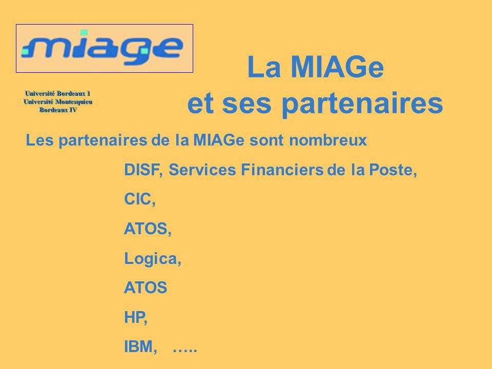 La MIAGe et ses partenaires