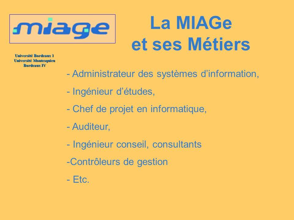 La MIAGe et ses Métiers - Administrateur des systèmes d'information,