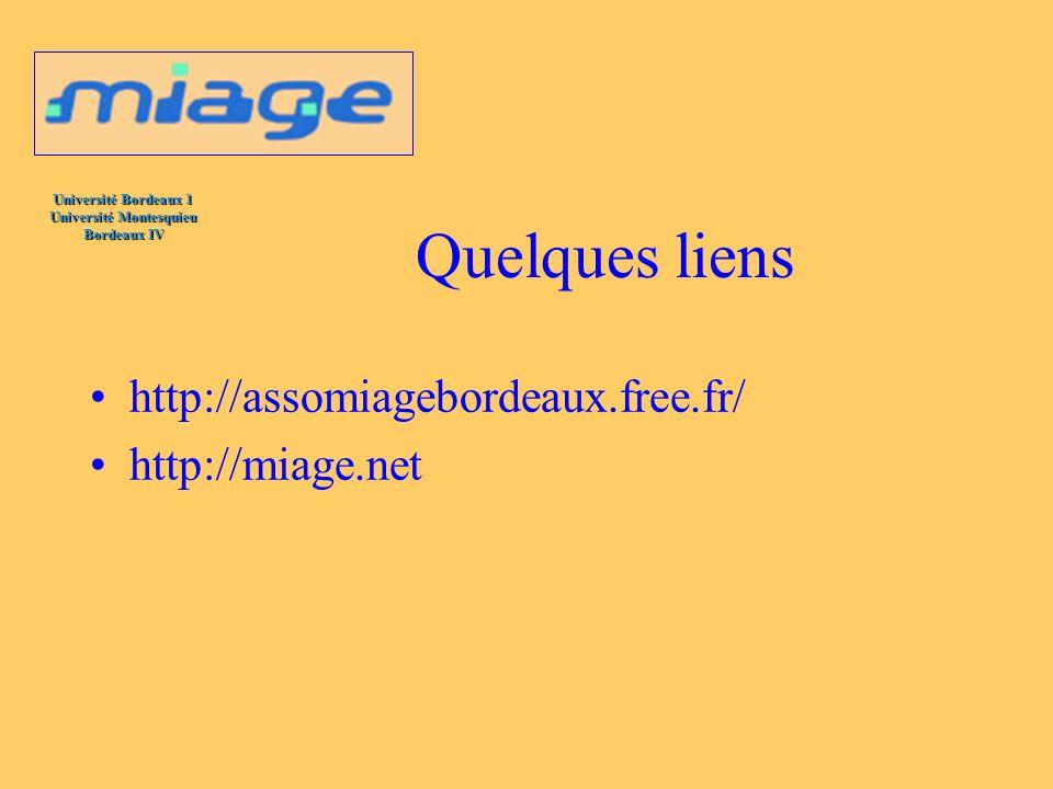 Quelques liens http://assomiagebordeaux.free.fr/ http://miage.net