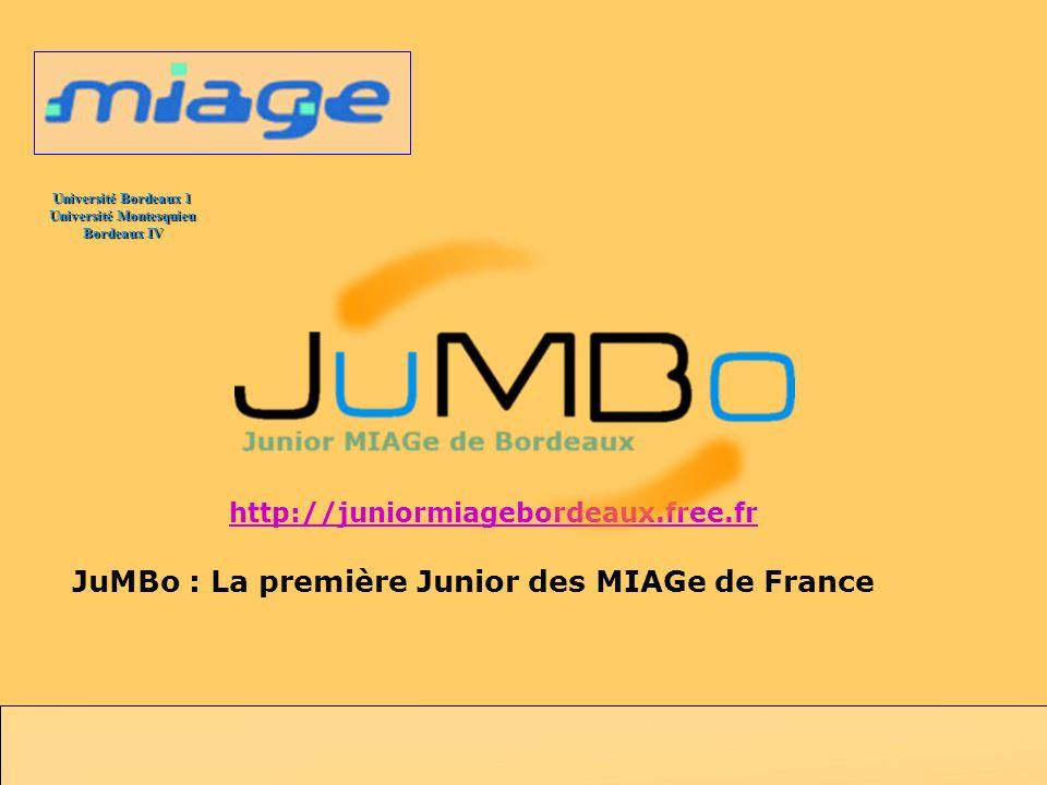 JuMBo : La première Junior des MIAGe de France
