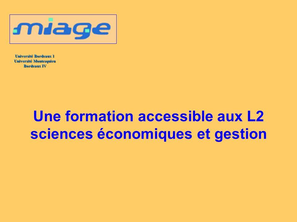 Une formation accessible aux L2 sciences économiques et gestion