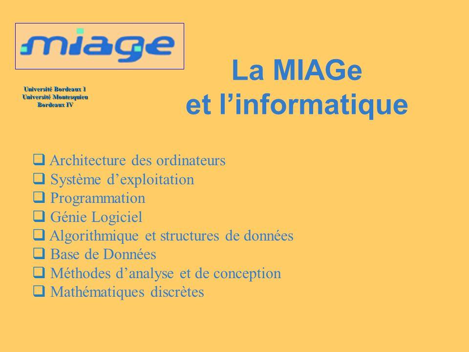 La MIAGe et l'informatique