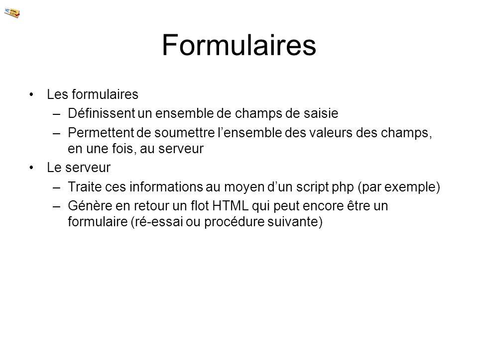 Formulaires Les formulaires