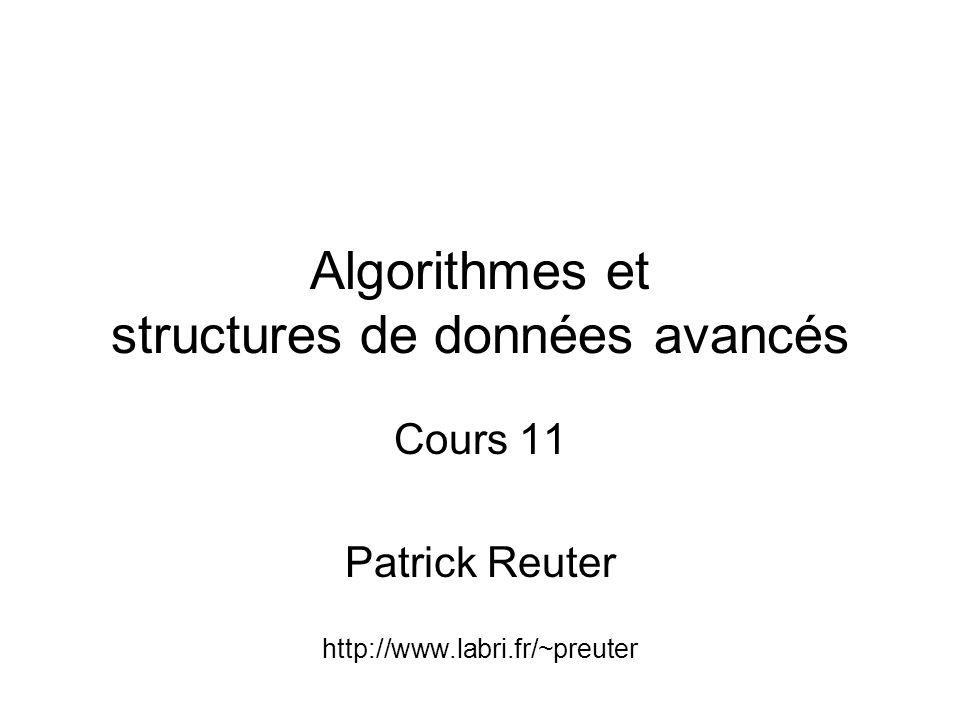 Algorithmes et structures de données avancés