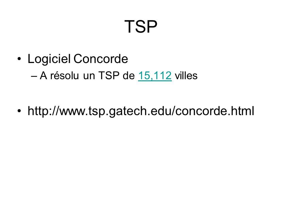 TSP Logiciel Concorde http://www.tsp.gatech.edu/concorde.html