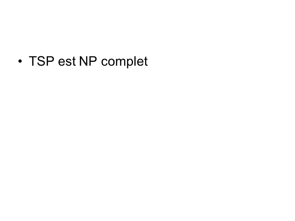 TSP est NP complet