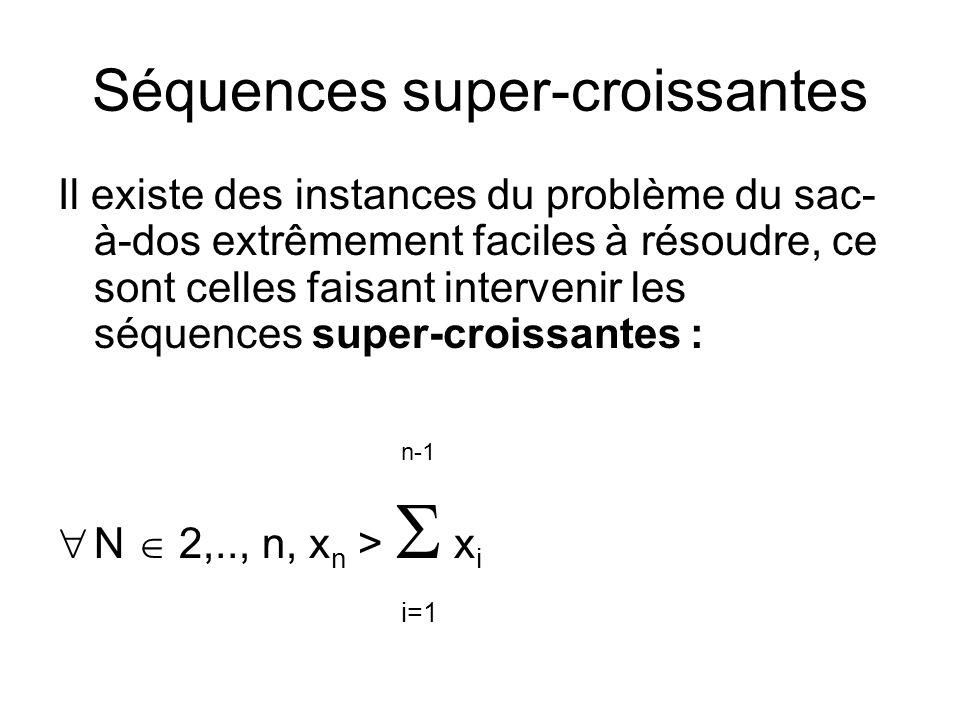 Séquences super-croissantes