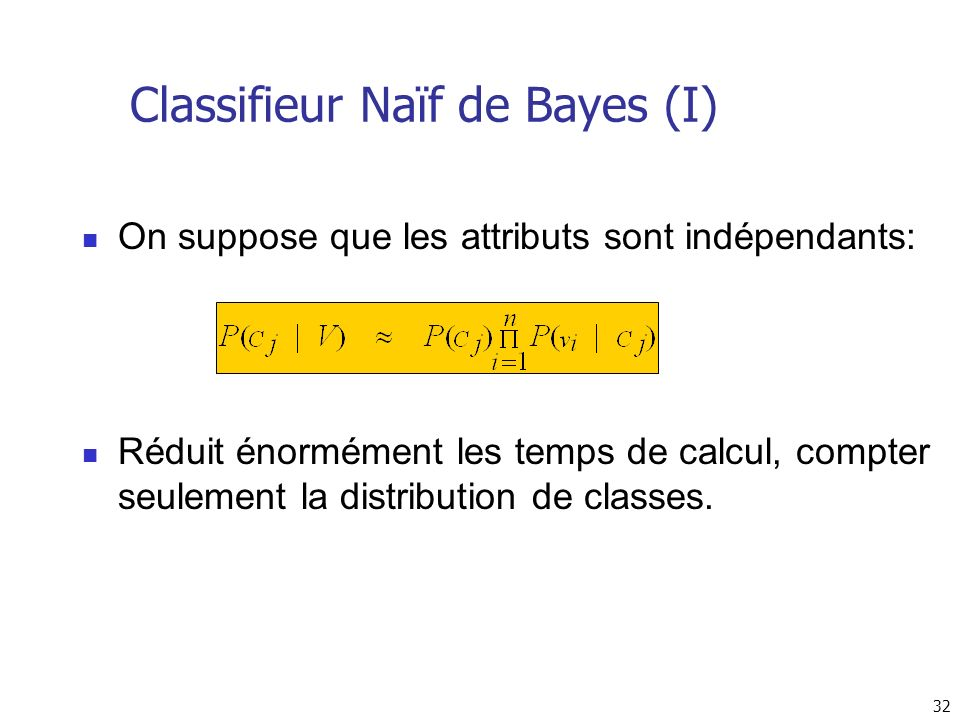 Classifieur Naïf de Bayes (I)