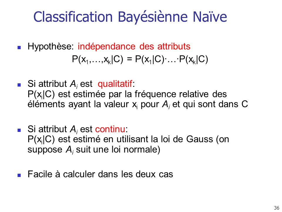 Classification Bayésiènne Naïve