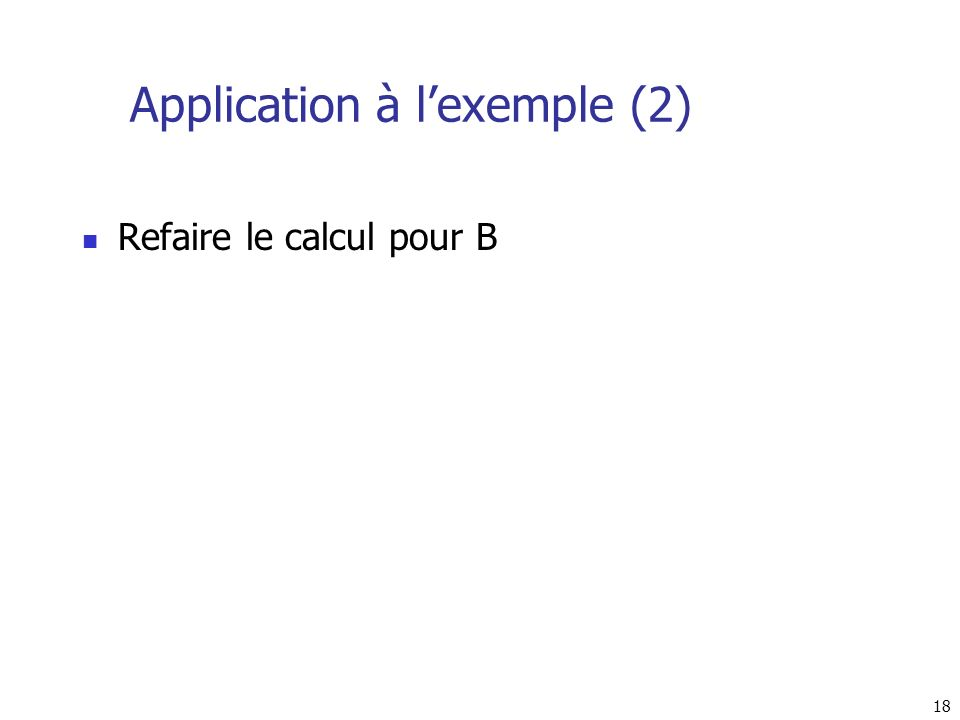 Application à l'exemple (2)