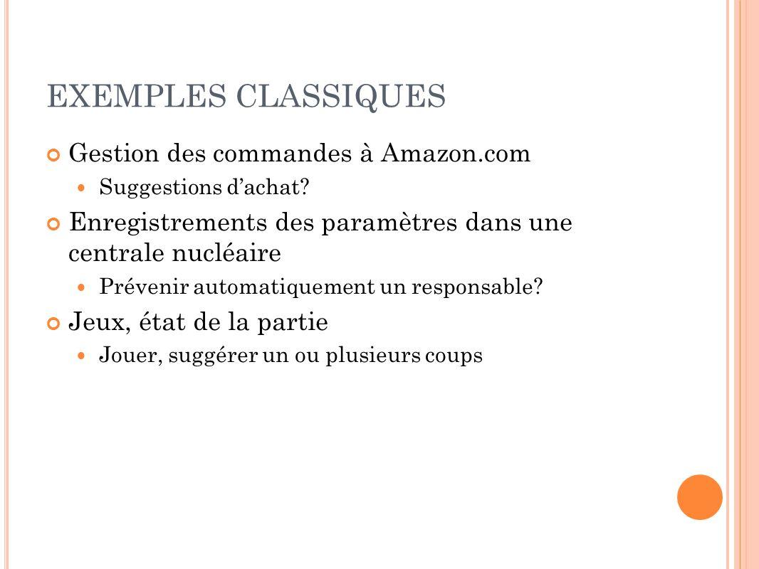 EXEMPLES CLASSIQUES Gestion des commandes à Amazon.com