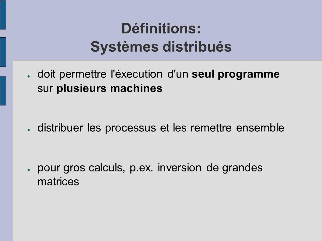 Définitions: Systèmes distribués