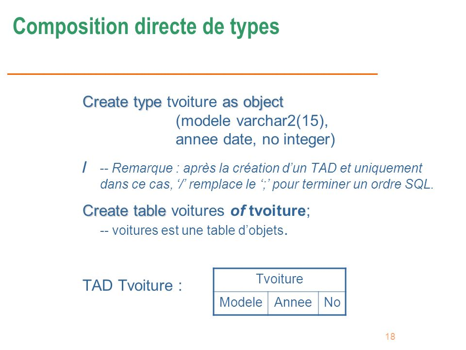 Composition directe de types