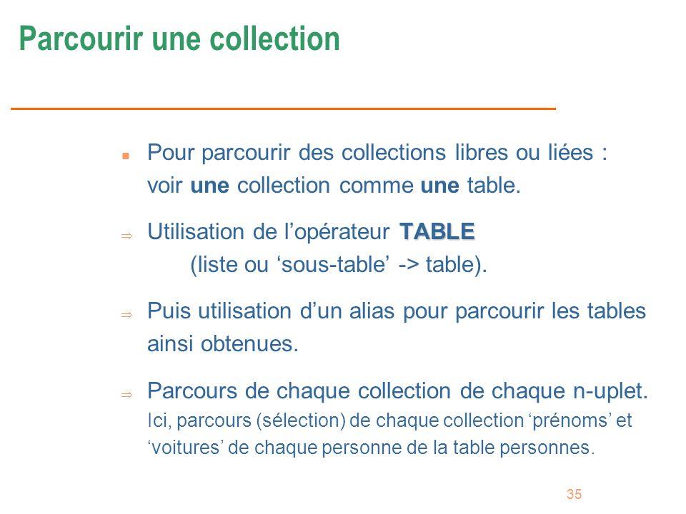 Parcourir une collection