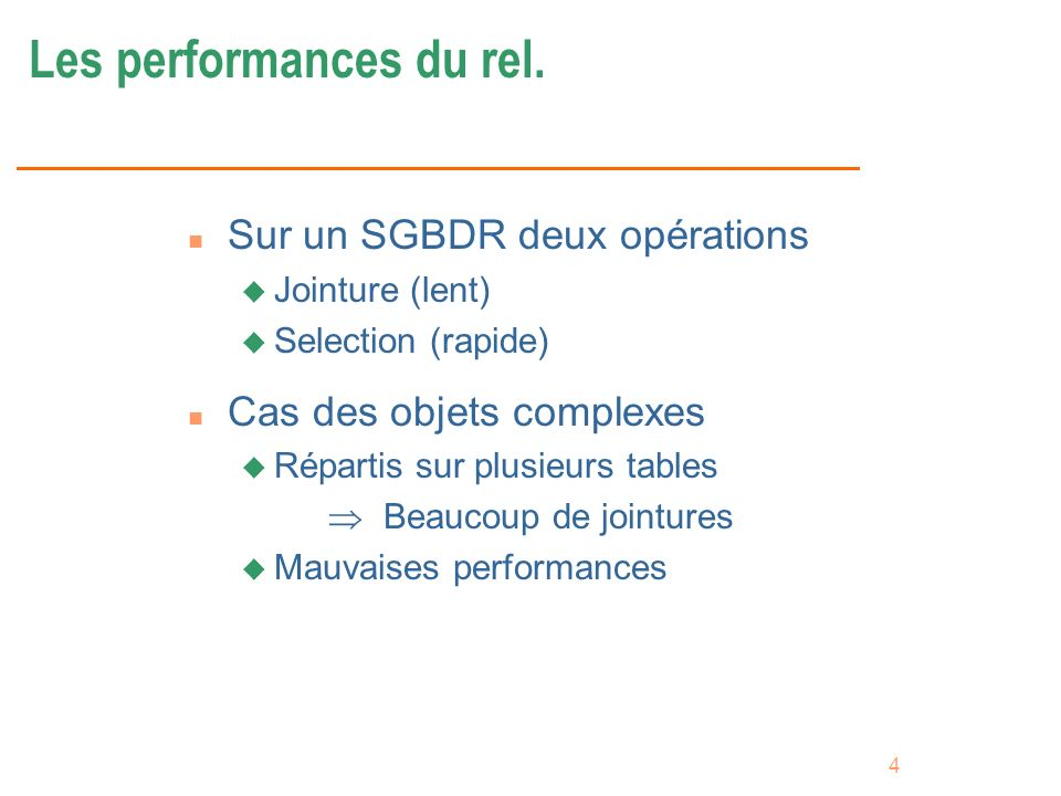 Les performances du rel.