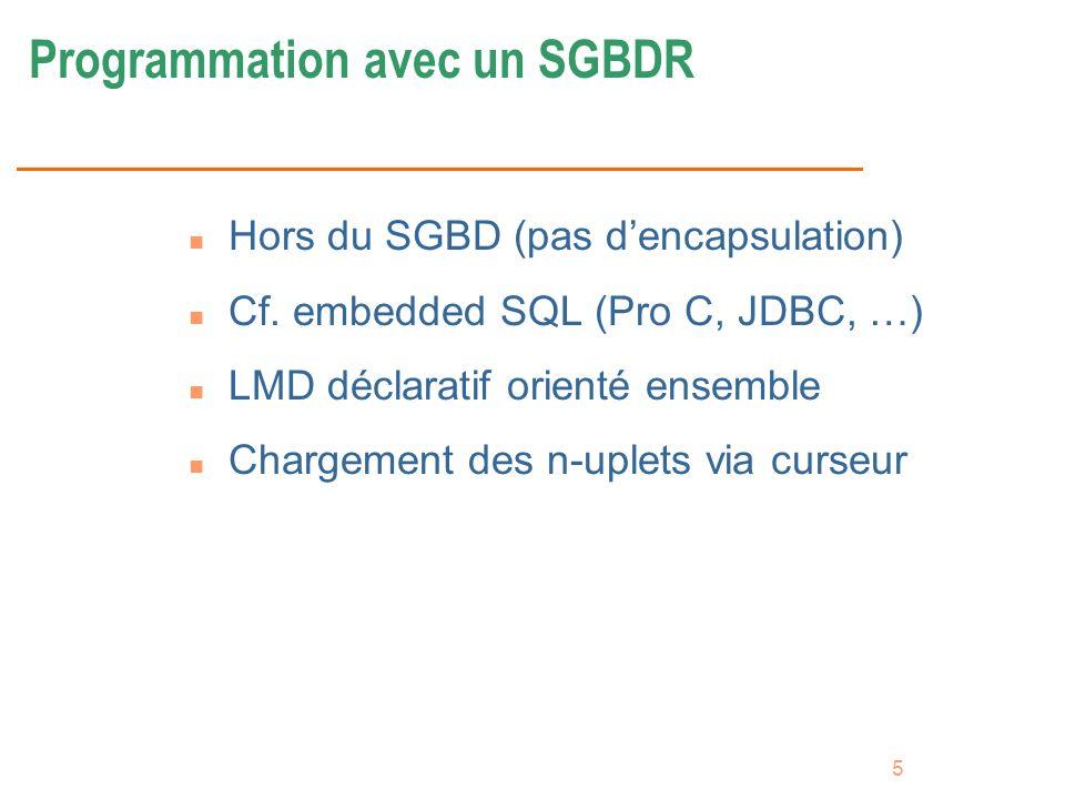Programmation avec un SGBDR