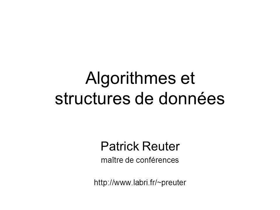 Algorithmes et structures de données