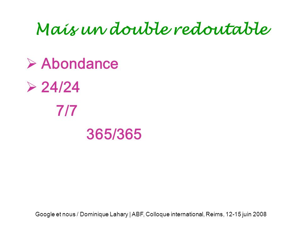 Mais un double redoutable
