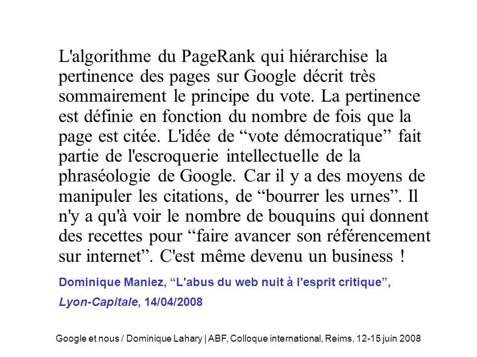 Googelisation des esprits
