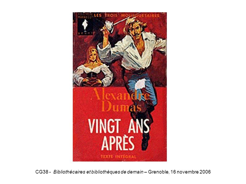 20ansaprès CG38 - Bibliothécaires et bibliothèques de demain – Grenoble, 16 novembre 2006
