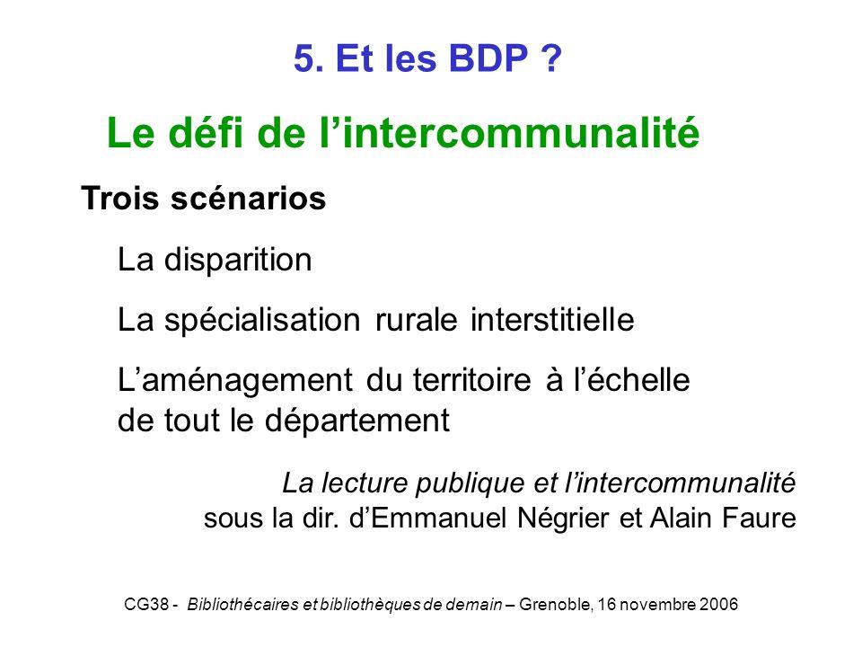 Le défi de l'intercommunalité