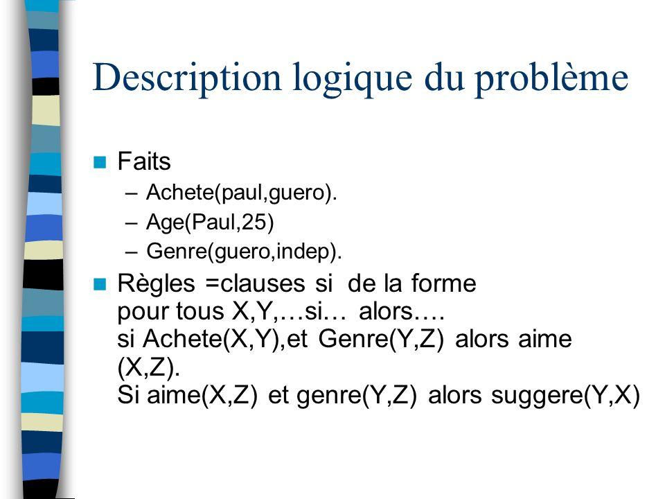 Description logique du problème