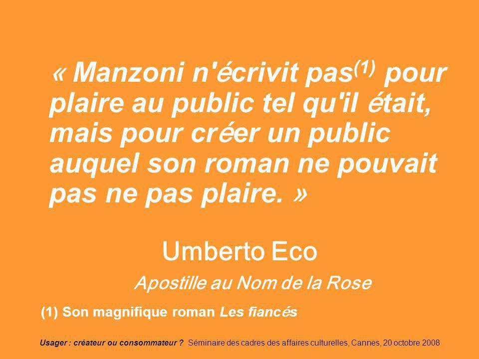 Umberto Eco Apostille au Nom de la Rose