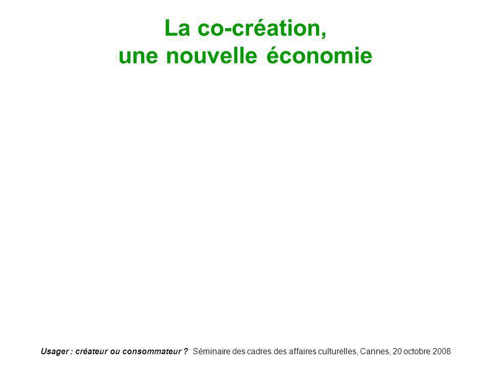 La co-création, une nouvelle économie