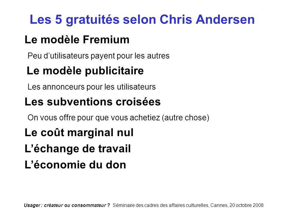 Les 5 gratuités selon Chris Andersen