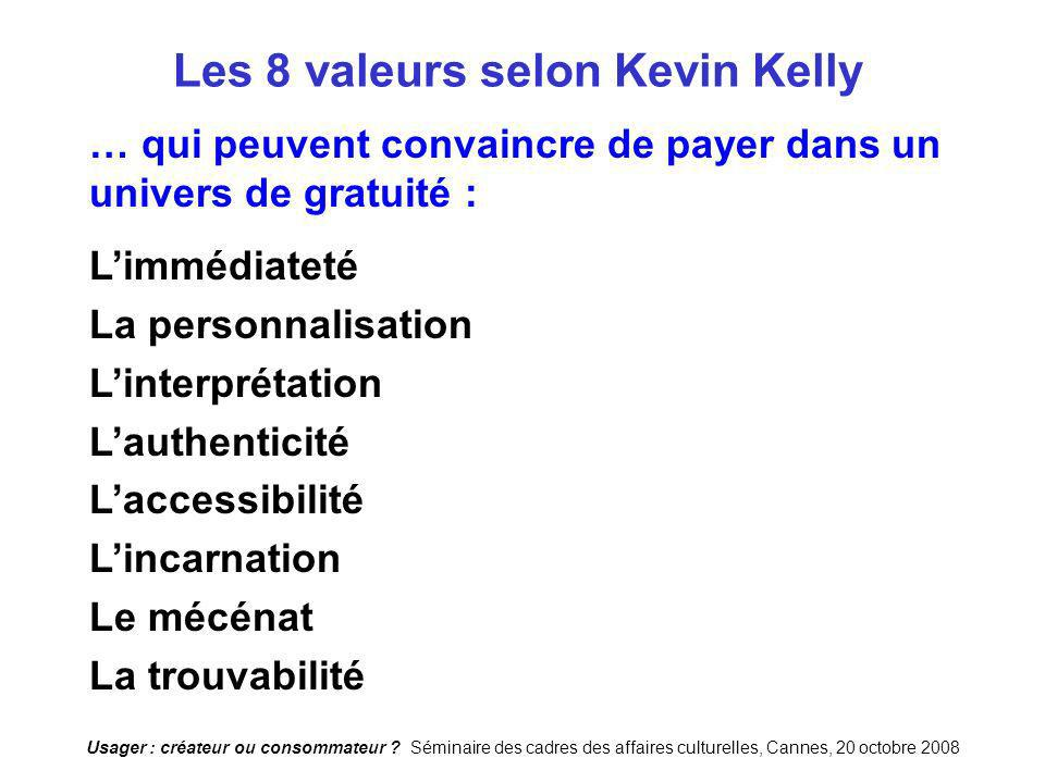 Les 8 valeurs selon Kevin Kelly