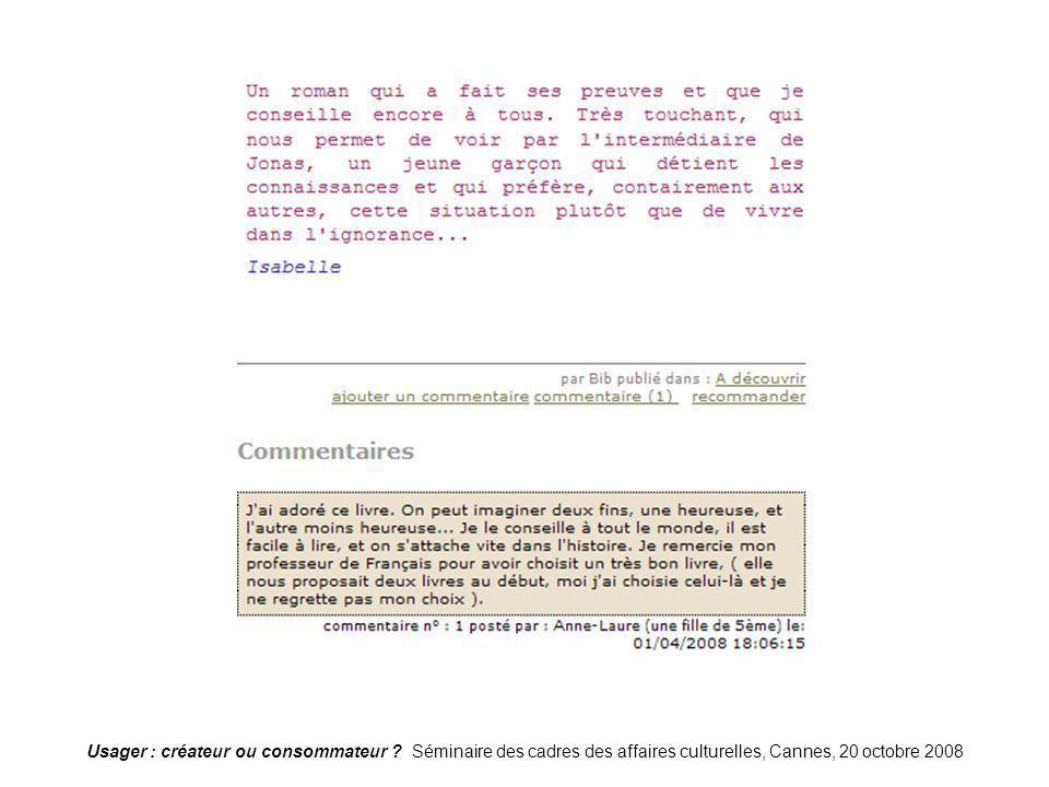 Blog-bagnolet21 Usager : créateur ou consommateur .