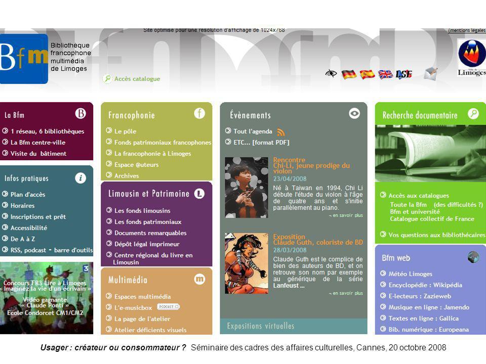 Limoges Usager : créateur ou consommateur .