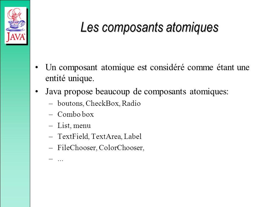 Les composants atomiques