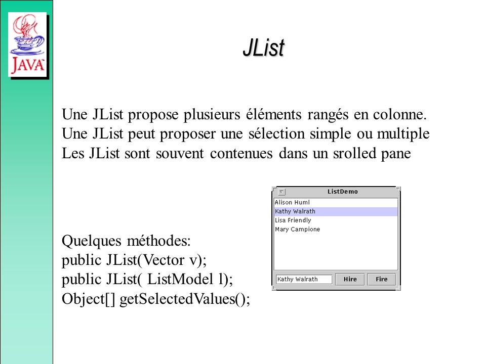 JList