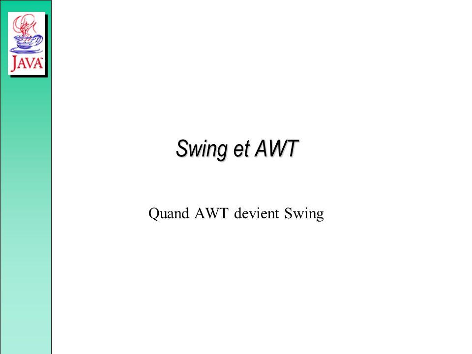 Quand AWT devient Swing