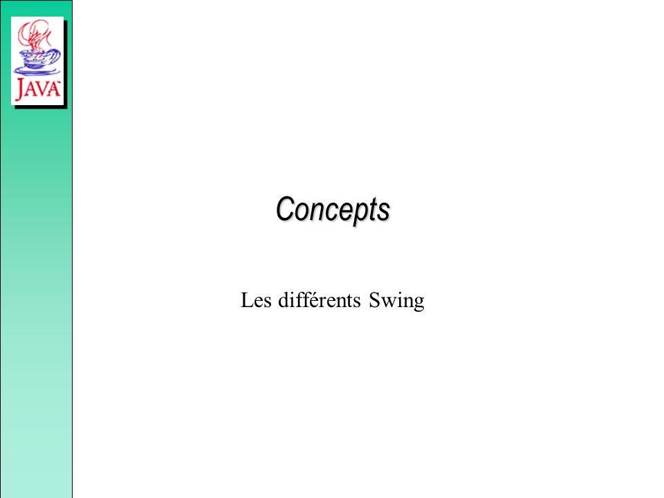 Concepts Les différents Swing