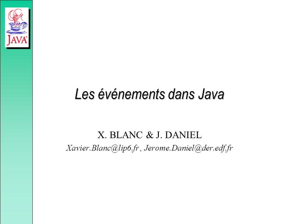 Les événements dans Java