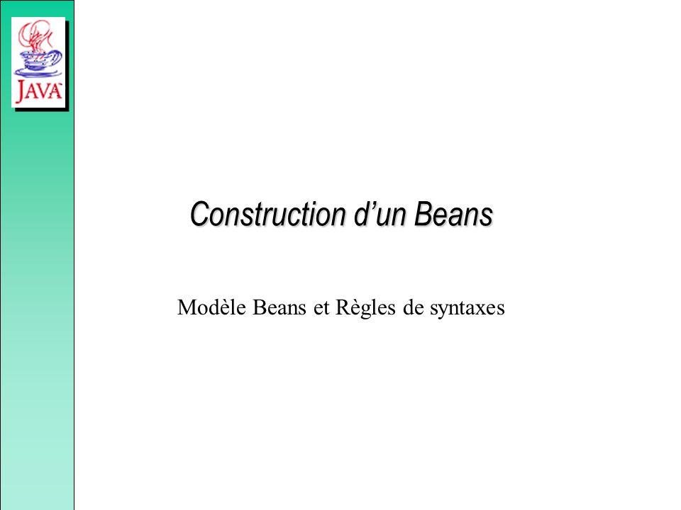 Construction d'un Beans