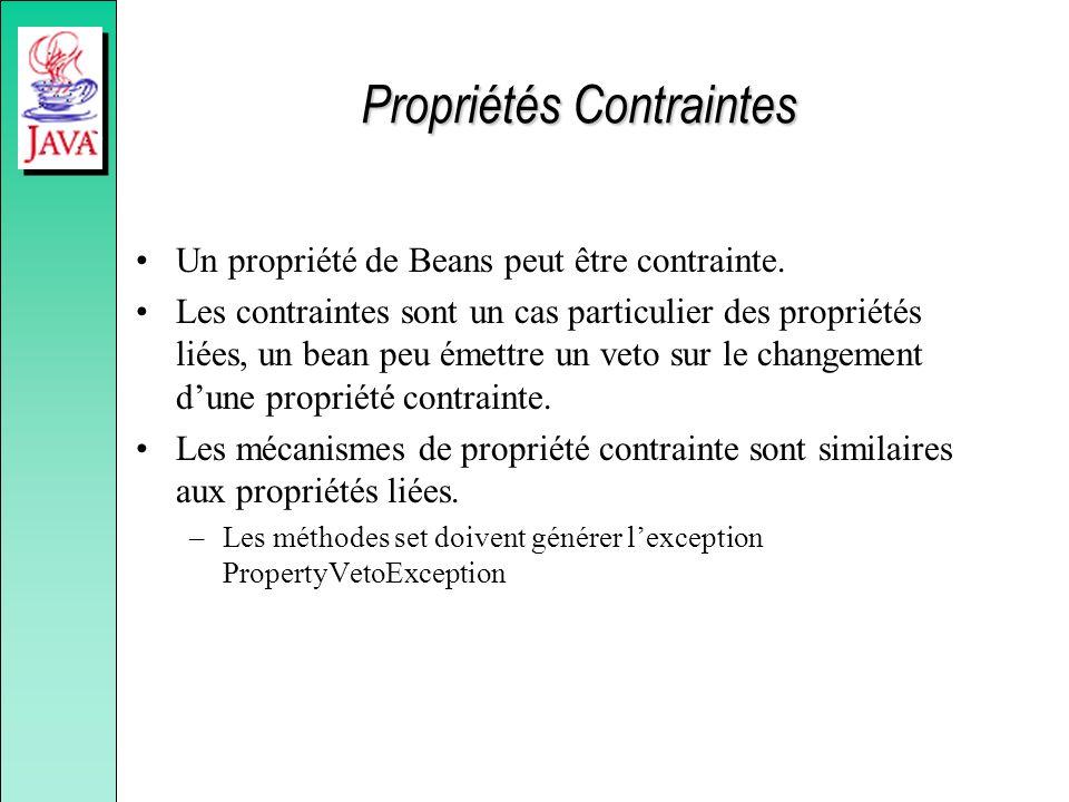 Propriétés Contraintes