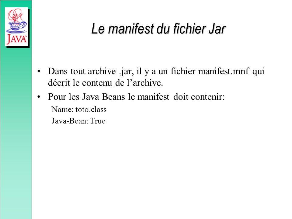Le manifest du fichier Jar