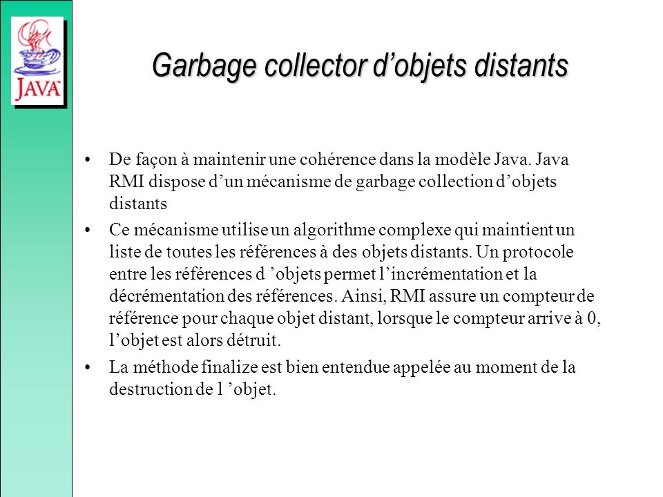 Garbage collector d'objets distants