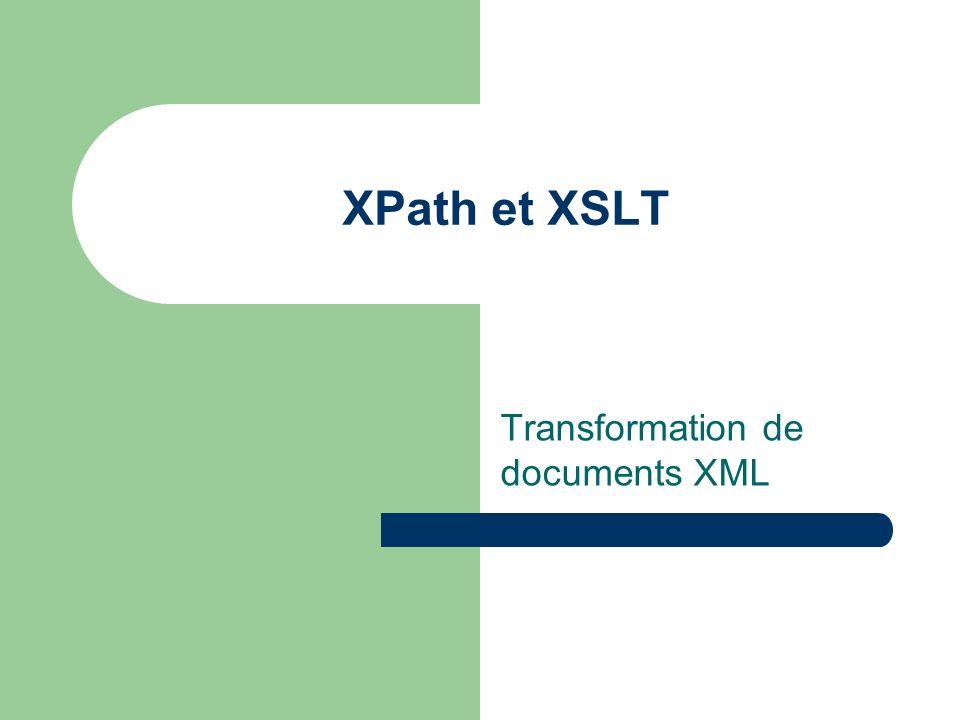 Transformation de documents XML