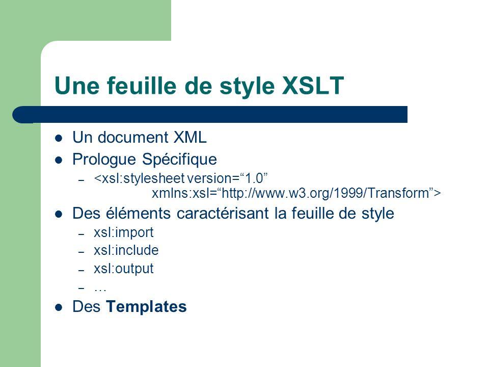 Une feuille de style XSLT