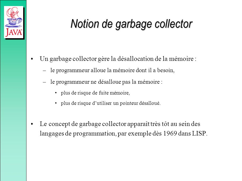 Notion de garbage collector