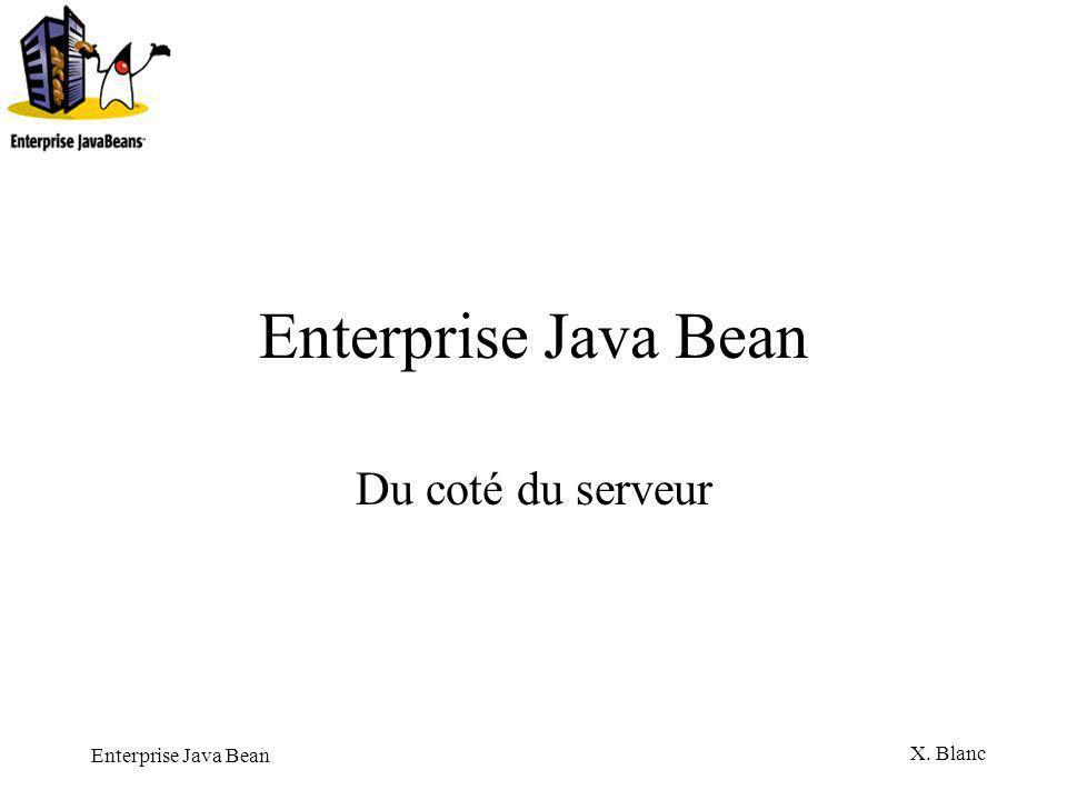 Enterprise Java Bean Du coté du serveur