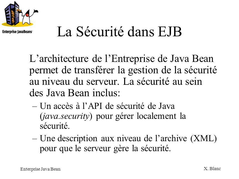 La Sécurité dans EJB