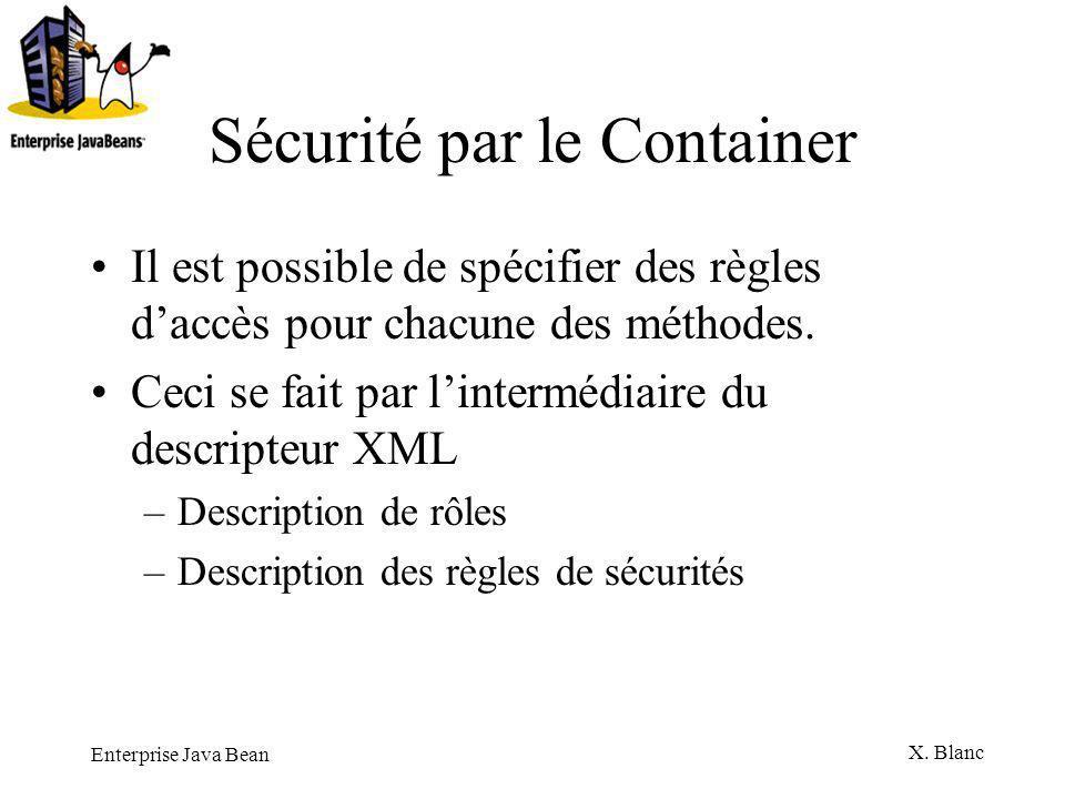 Sécurité par le Container